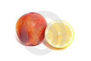 Lemon And Nectarine Stock Photo - Image: 10327150