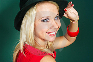 Woman In Green Bonnet Stock Photography - Image: 10328412