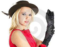 Lady In Red Stock Image - Image: 10328451