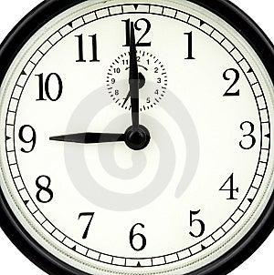 Nine Of Clock Royalty Free Stock Photography - Image: 10330417