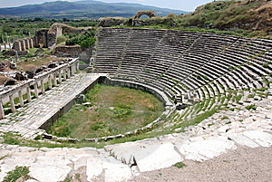 Ancient Theater At Aphrodisias Stock Image - Image: 10331021