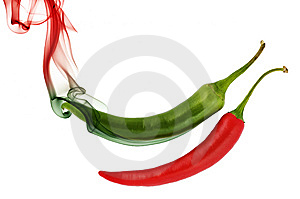 Pepper With Color Smoke Royalty Free Stock Photos - Image: 10337268