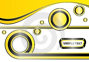 Yellow Template Background, Easily Editable  Royalty Free Stock Images - Image: 10339079