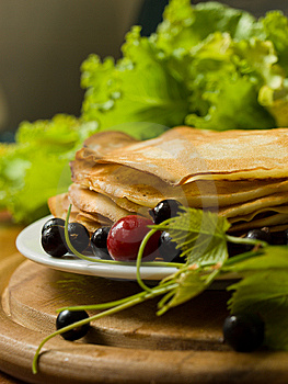 Pancakes With Berries Stock Photos - Image: 10342493
