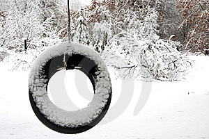 Lonely Tire Swing Stock Photo - Image: 10343190