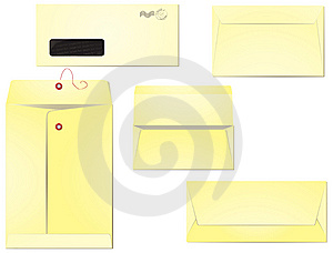 Blank Envelopes Isolated Stock Photography - Image: 10343532