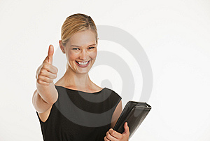 Businesswoman Giving Thumbs Up Royalty Free Stock Photo - Image: 10348465