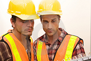 Two Construction Workers At The Job Stock Images - Image: 10348774
