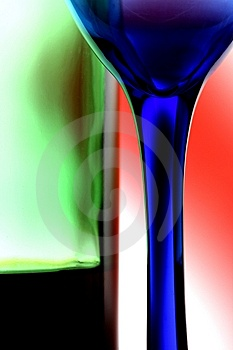 Wine Bottle & Glass Abstract Stock Photo - Image: 10348960