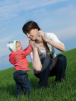Little Girl With Mom Royalty Free Stock Photo - Image: 10349765