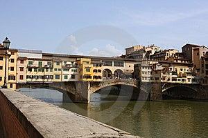 Medieval Bridge Ponte Vecchio In Florence Stock Image - Image: 10350841