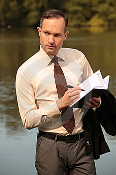 Businessman Making Notes Royalty Free Stock Images - Image: 10351039