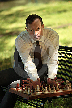 Angry Man Playing Chess Stock Photo - Image: 10351130