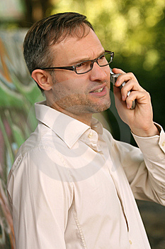 Man On Phone Royalty Free Stock Photography - Image: 10351247