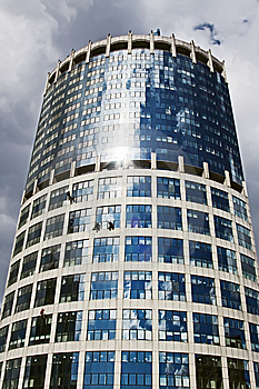 High Rise Industrial Workers On A Skyscraper Royalty Free Stock Photos - Image: 10351248