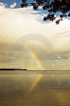 Rainbow Above Lake Royalty Free Stock Photos - Image: 10351288