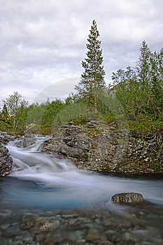 Mountain River With Clear Water Stock Image - Image: 10351301