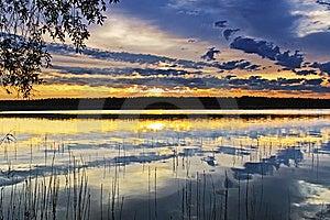 Sunset On The Lake Stock Photo - Image: 10351310