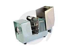 Vintage Side Projector With Film Holder Isolated Royalty Free Stock Images - Image: 10352859