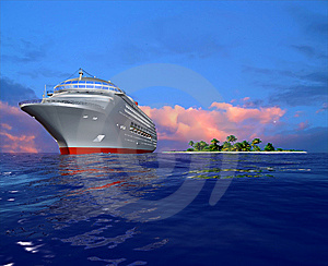 A Modern Liner Stock Photo - Image: 10353000