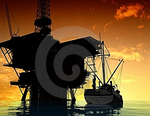Production Of Petroleum Royalty Free Stock Photos - Image: 10353228