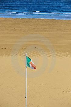 Irish Flag Waving In Breeze Royalty Free Stock Photos - Image: 10353398