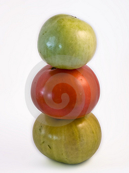 Totem Of Tomatoes Royalty Free Stock Photography - Image: 10354457