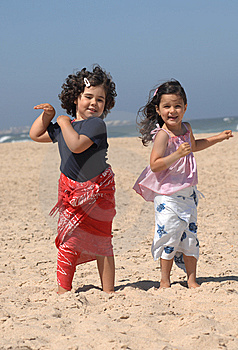 Dancing On The Beach Stock Photo - Image: 10356500