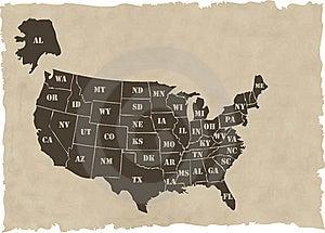 Retro Usa Map Stock Photos - Image: 10357343