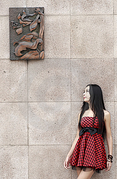 Asian Modern Girl Outdoor Royalty Free Stock Photo - Image: 10359695