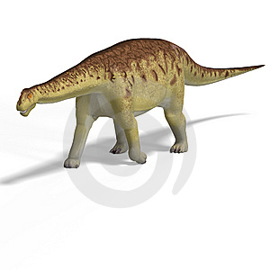 Giant Dinosaur Camasaurus With Clipping Path Over Royalty Free Stock Image - Image: 10360086