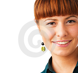 Cute Redhead Woman Portrait Royalty Free Stock Photography - Image: 10360937