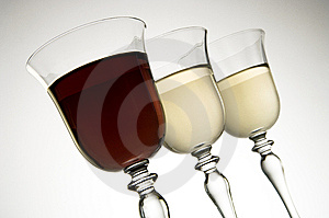 Two Colors Of Wine Stock Photos - Image: 10362743