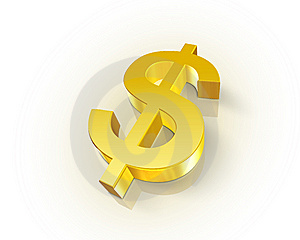Golden Dollar Symbol Stock Images - Image: 10362784