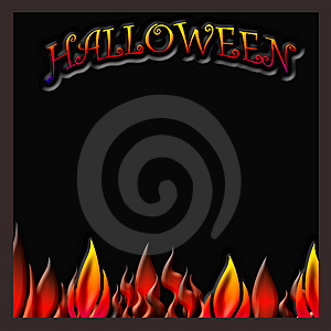 Halloween Flaming Poster Stock Images - Image: 10363364