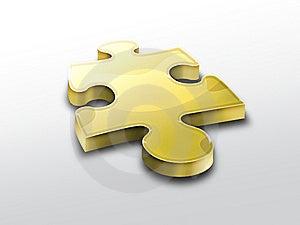 Golden Puzzle Piece Stock Photos - Image: 10363633