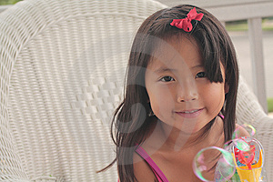Little Girl Making Bubbles Stock Photography - Image: 10372502