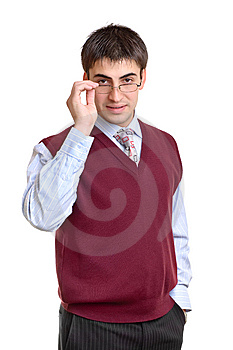 Male office worker Royalty Free Stock Photos