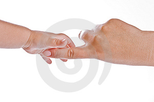 Hands on white Royalty Free Stock Photo