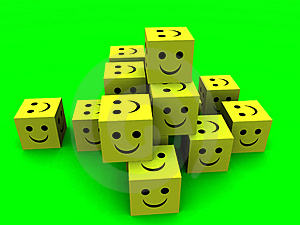 Happy Cubes Stock Photography - Image: 1042952