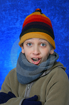 Boy Doing Fun Expression Royalty Free Stock Images - Image: 1048139