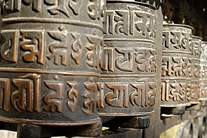 Prayer Wheels Stock Photos - Image: 10404723
