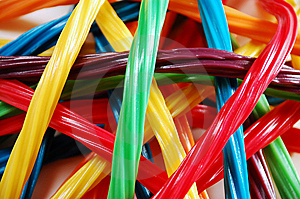 Colorful Licorice Ribbons Royalty Free Stock Photos - Image: 10420038