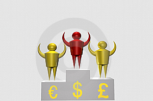 Red Dollar Winner Royalty Free Stock Photography - Image: 10483757