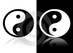 Yin Yang Symbol Stock Images - Image: 10487904