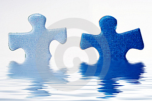 Puzzle In Water Royalty Free Stock Images - Image: 1050509