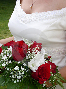 Wedding Bouquet And Bride's Bust Stock Photos - Image: 1051013