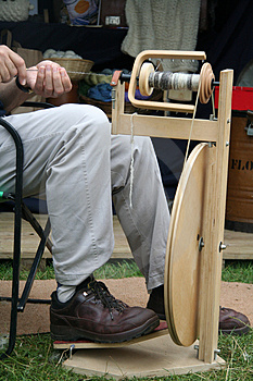 Spinning Wool Stock Photography - Image: 1059002