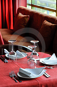 Restaurant Table Royalty Free Stock Photo - Image: 10505625