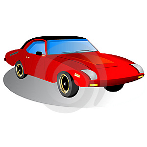 Sport car icon Royalty Free Stock Photos